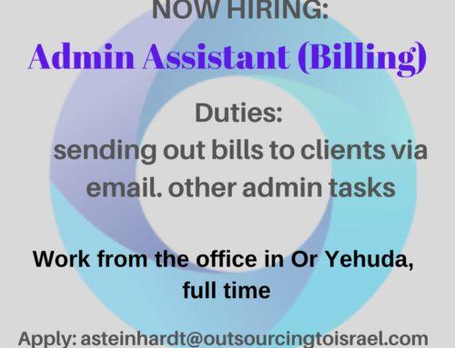 Admin Assistant (Billing)